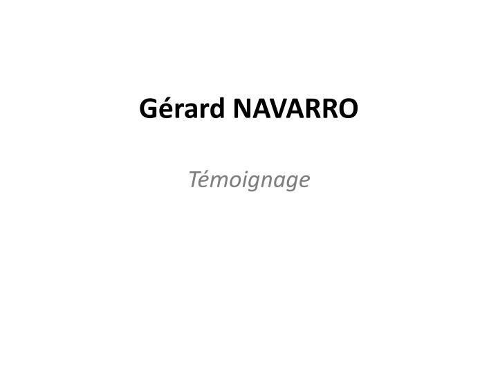 Gérard NAVARRO
