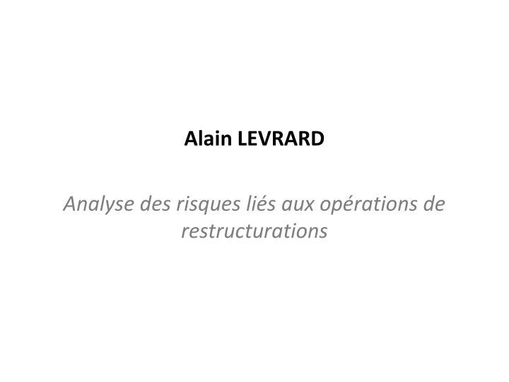 Alain LEVRARD