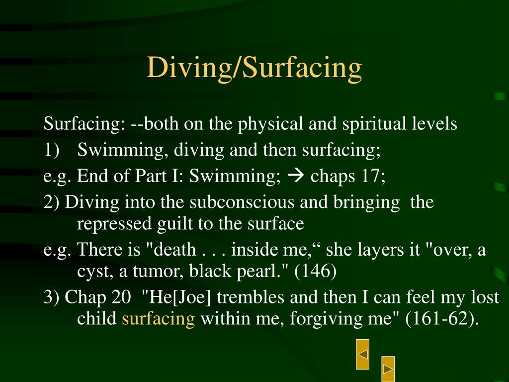 Diving/Surfacing