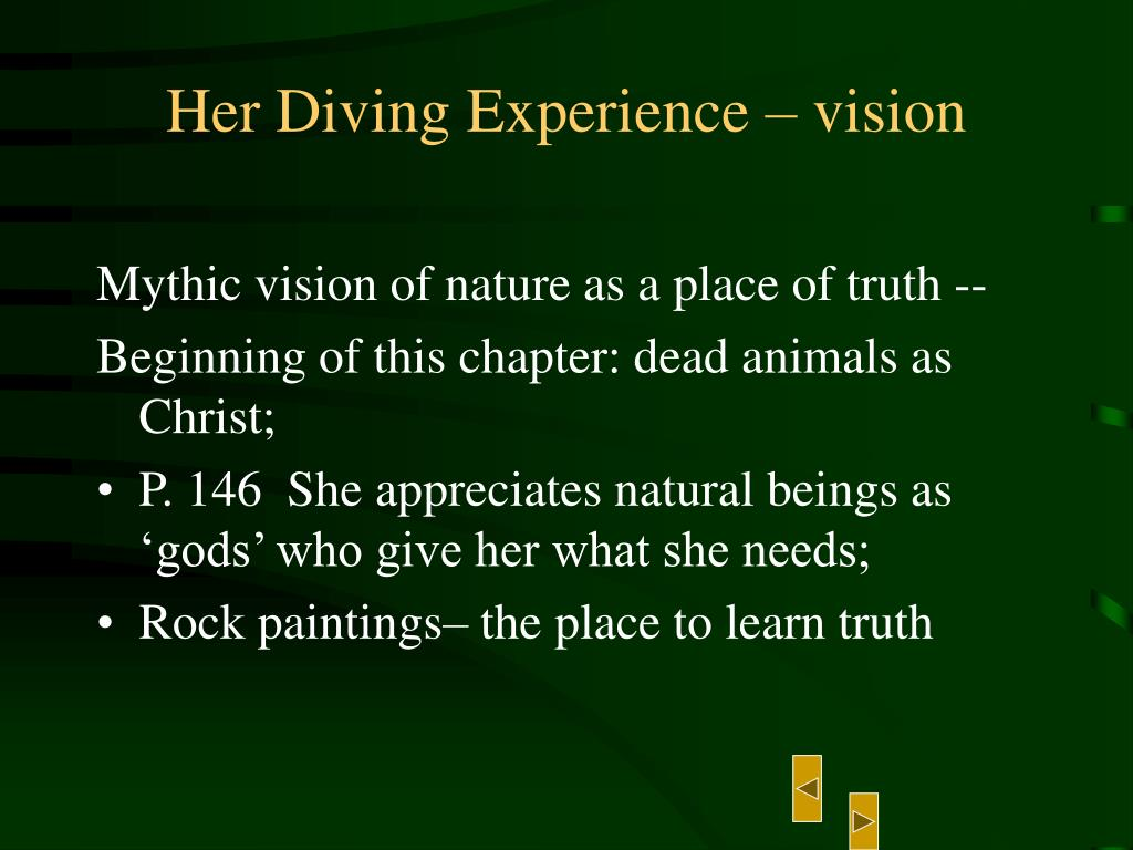Her Diving Experience – vision