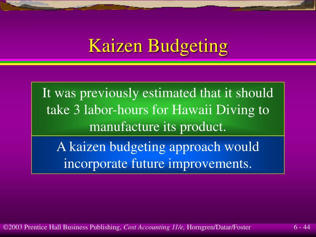 Kaizen Budgeting