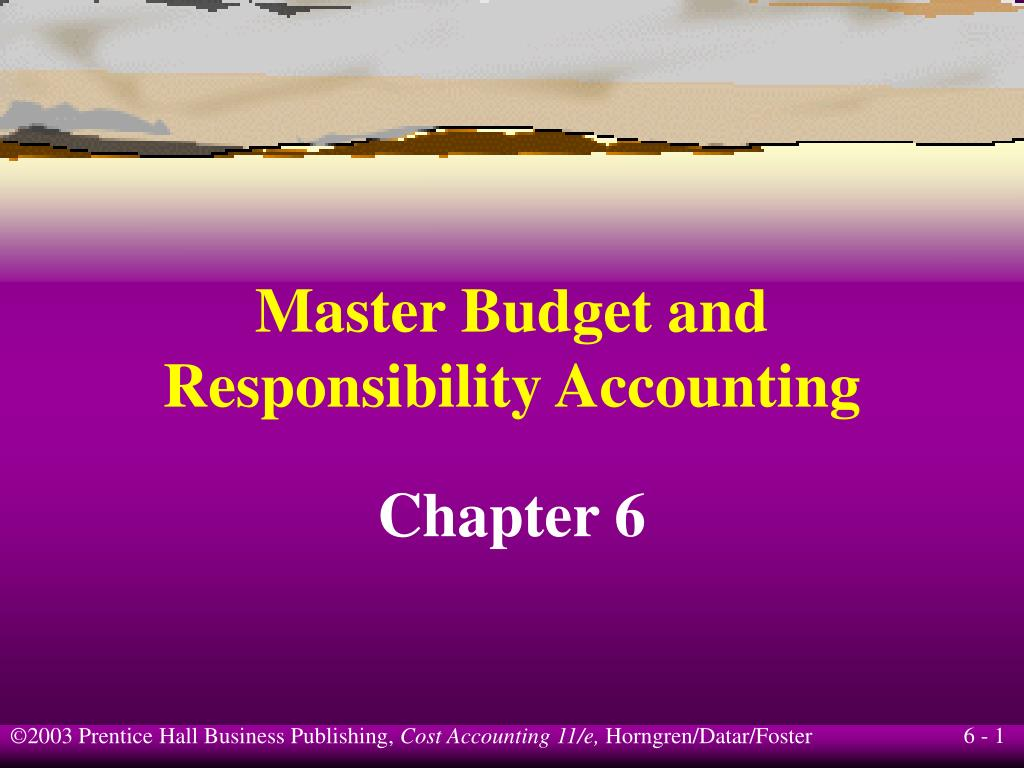 Master Budget and