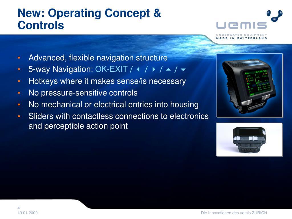 New: Operating Concept & Controls