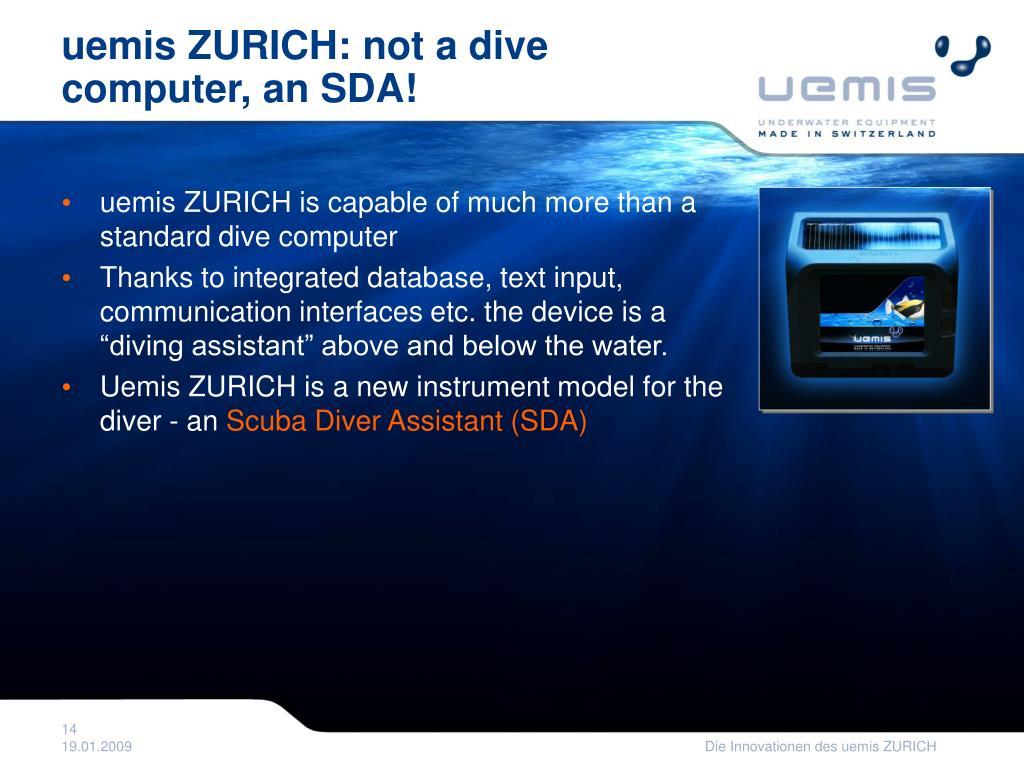 uemis ZURICH: not a dive computer, an SDA!