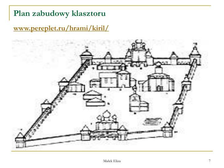 Plan zabudowy klasztoru