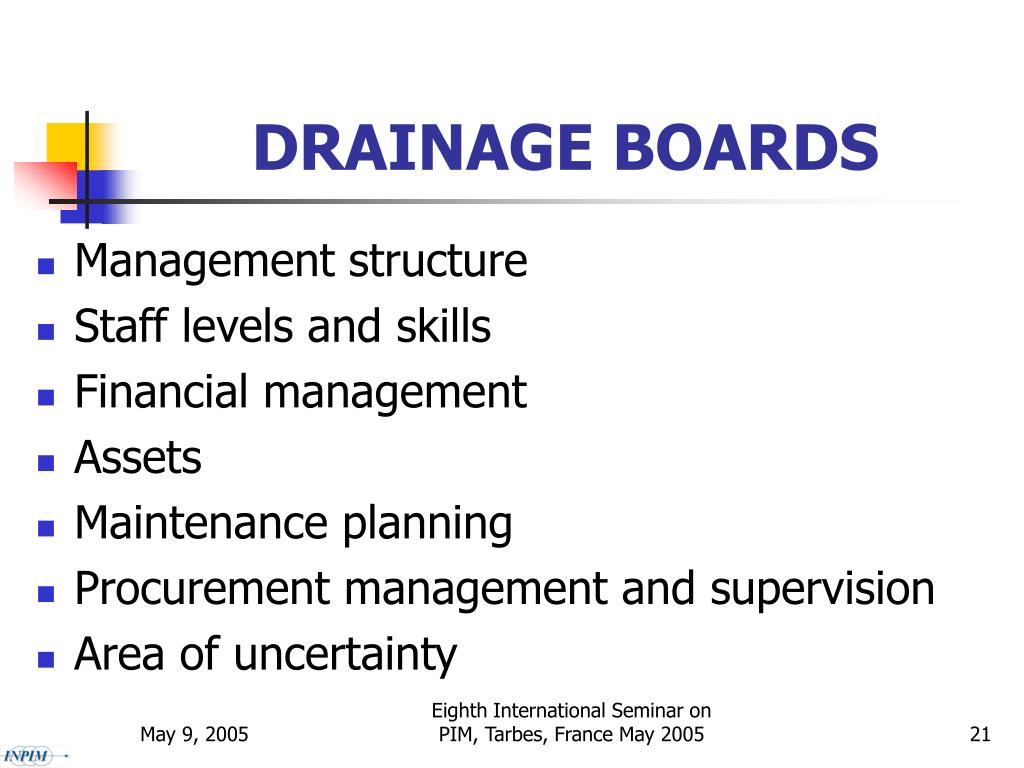 DRAINAGE BOARDS