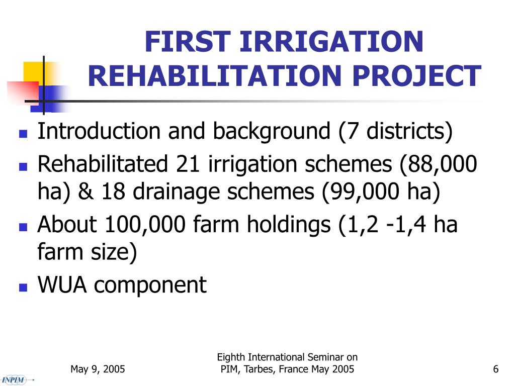 FIRST IRRIGATION REHABILITATION PROJECT
