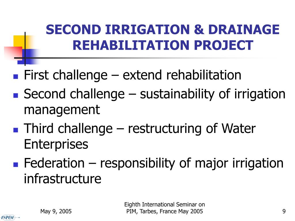 SECOND IRRIGATION & DRAINAGE REHABILITATION PROJECT