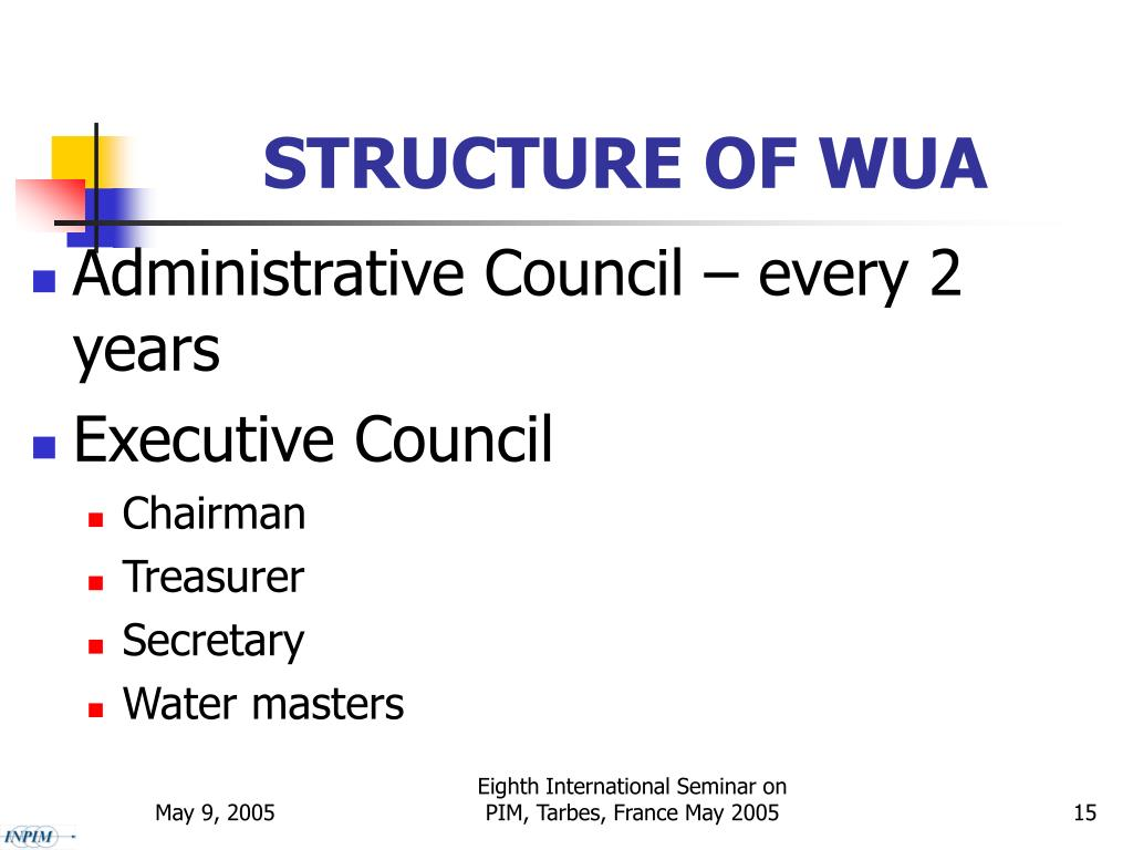 STRUCTURE OF WUA