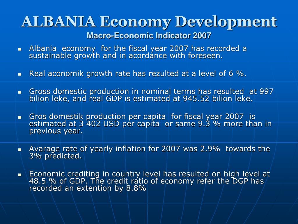ALBANIA Economy Development
