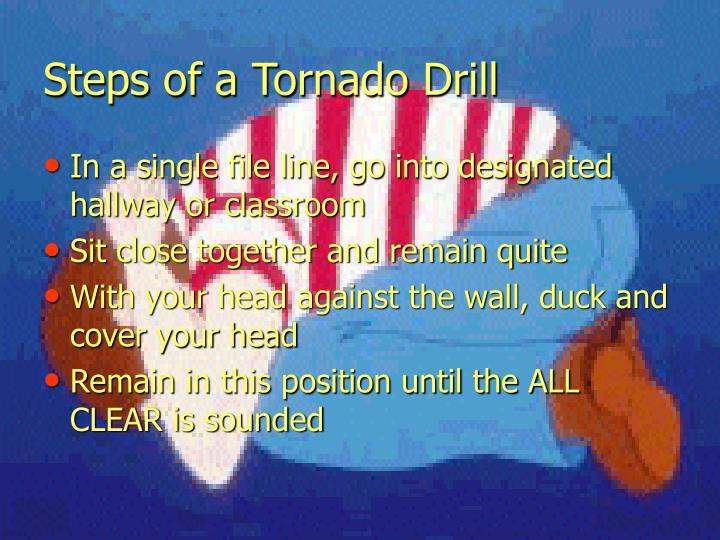 Steps of a Tornado Drill