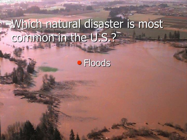 Which natural disaster is most common in the U.S.?