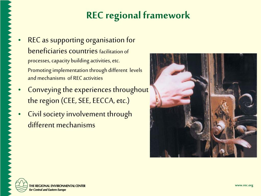 REC regional framework