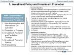 1 investment policy and investment promotion
