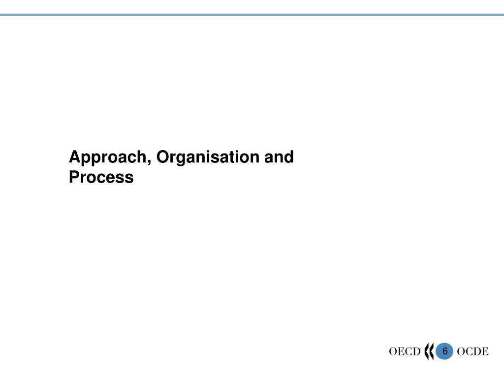 Approach, Organisation and Process