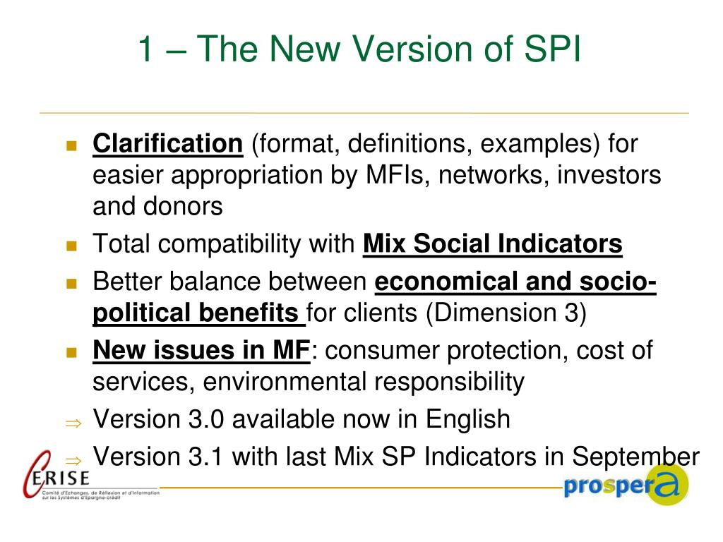 1 – The New Version of SPI