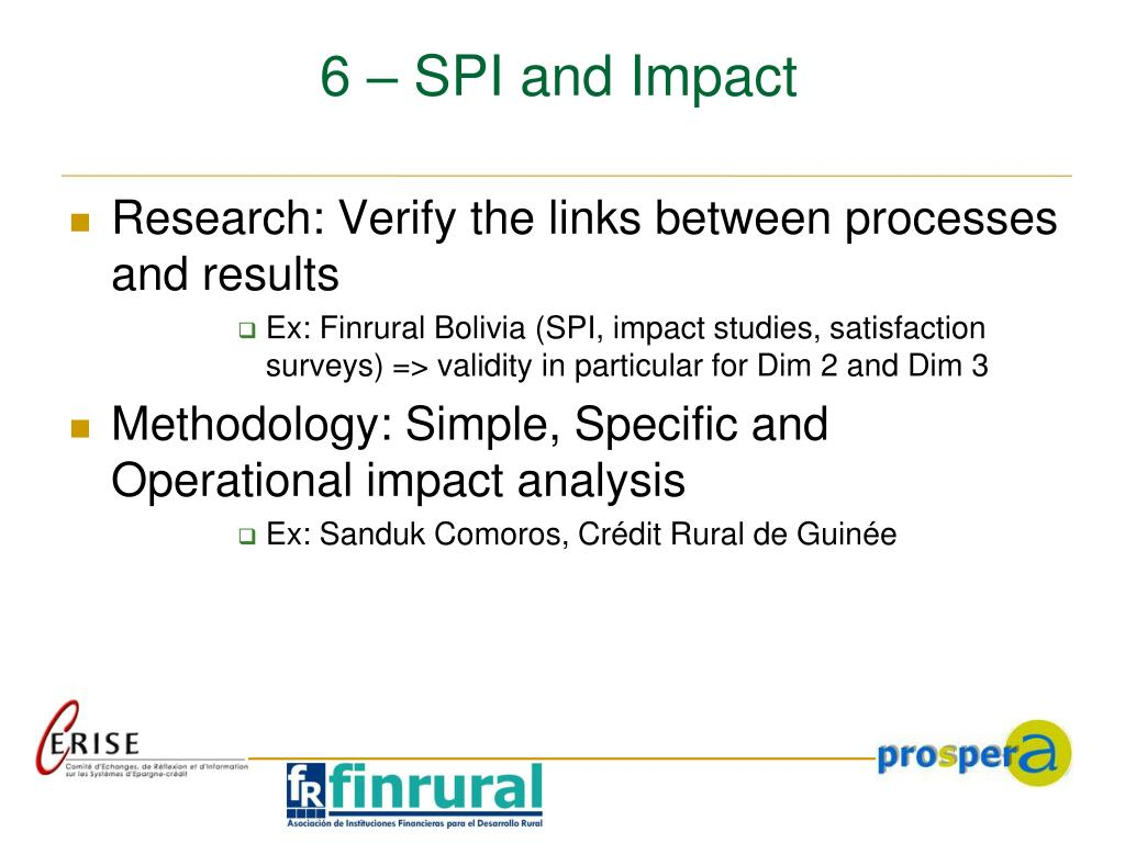 6 – SPI and Impact