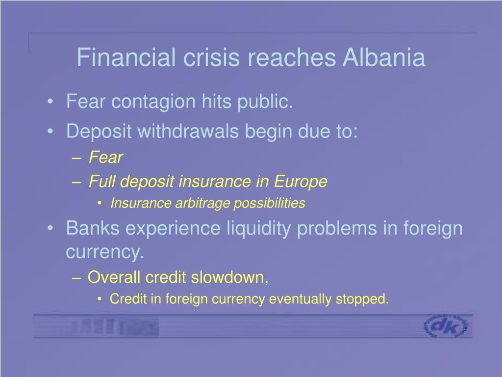 Financial crisis reaches Albania