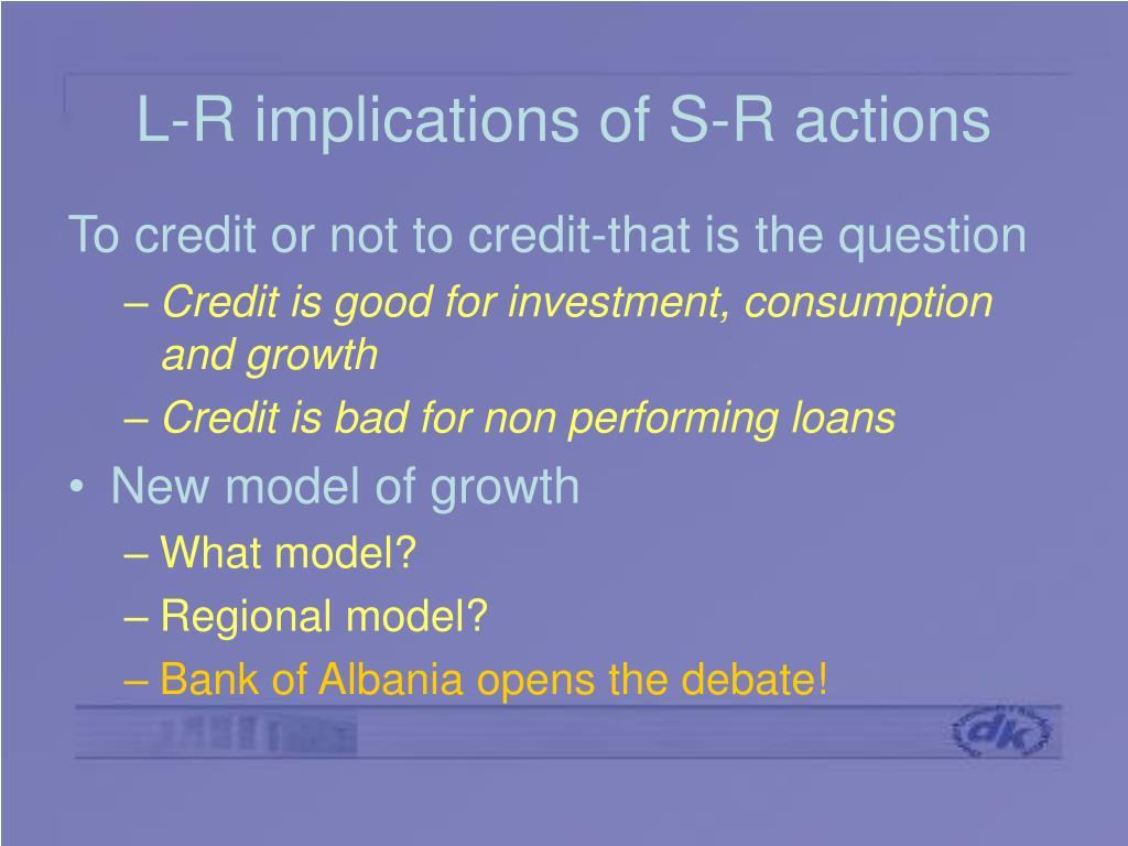 L-R implications of S-R actions