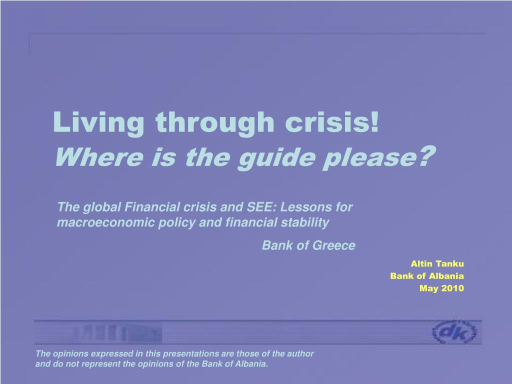 living through crisis where is the guide please