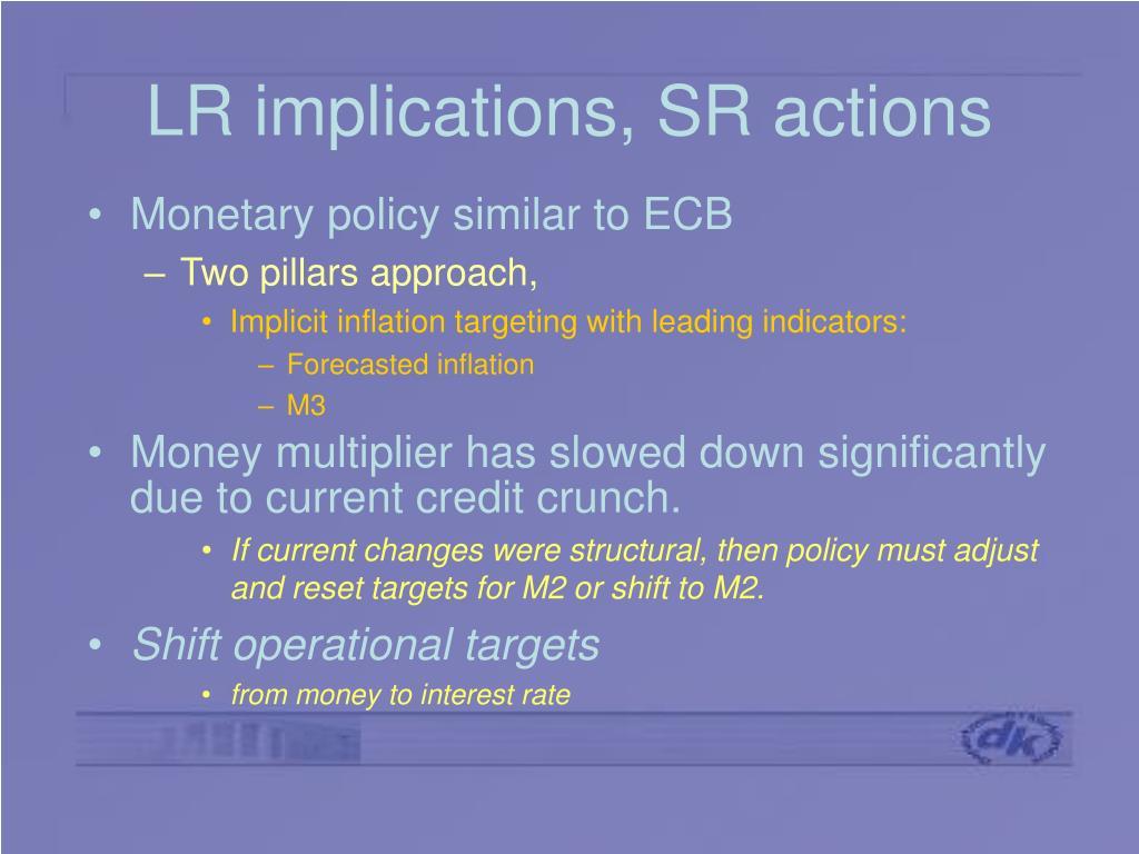 LR implications, SR actions