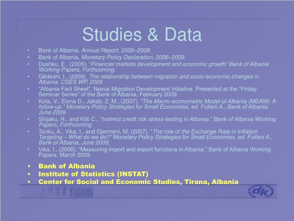 Studies & Data