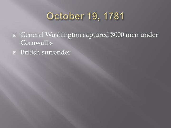 October 19, 1781