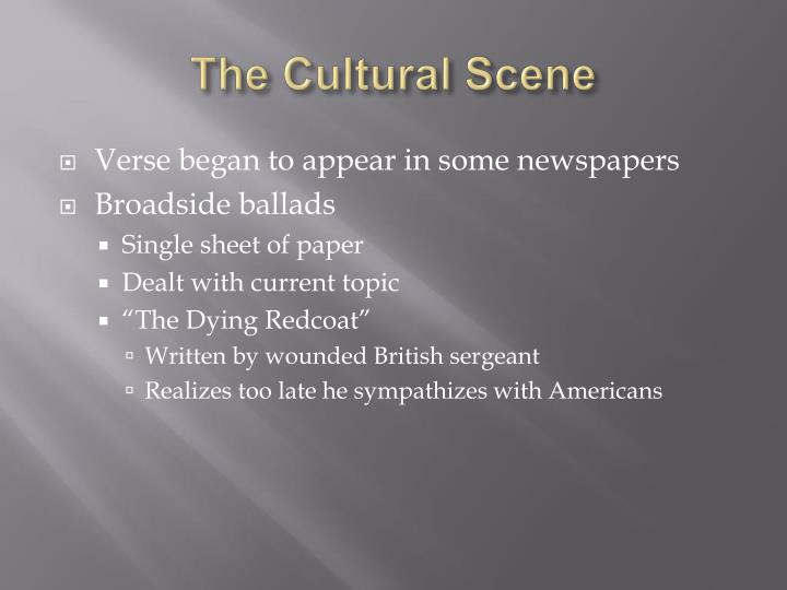 The Cultural Scene