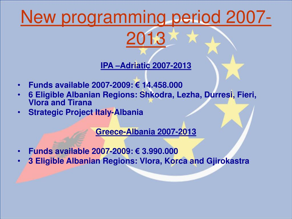 New programming period 2007-2013