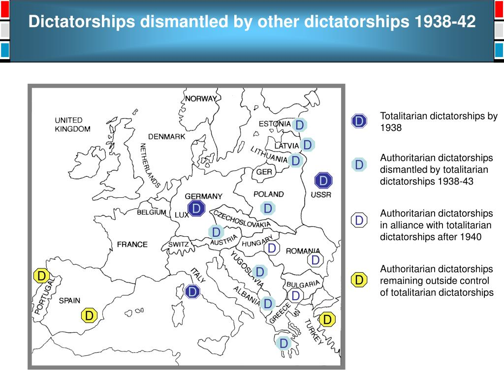 Dictatorships dismantled by other dictatorships 1938-42