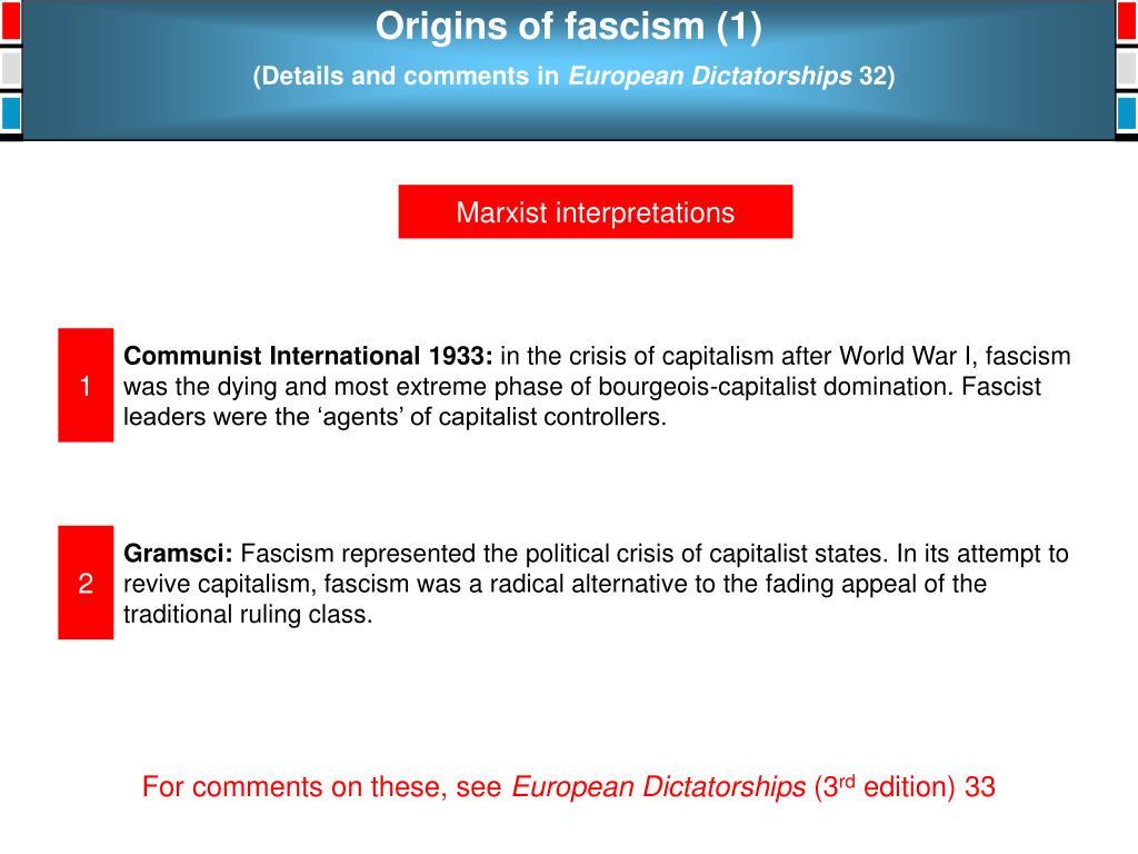 Origins of fascism (1)