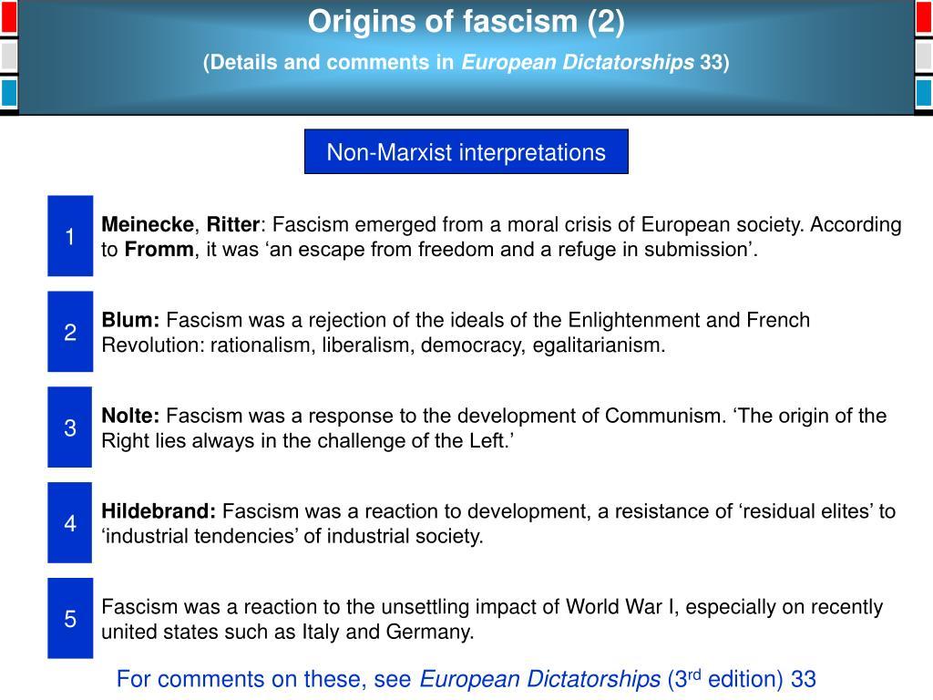 Origins of fascism (2)