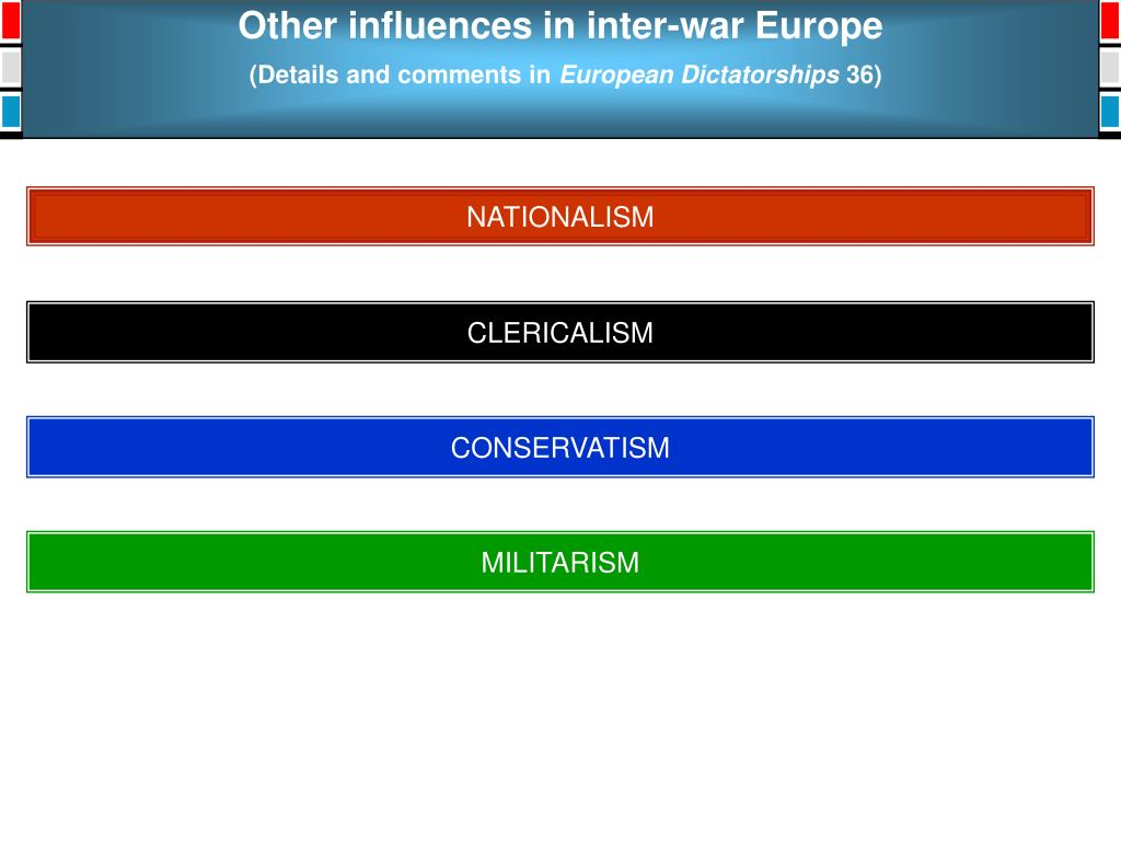 Other influences in inter-war Europe