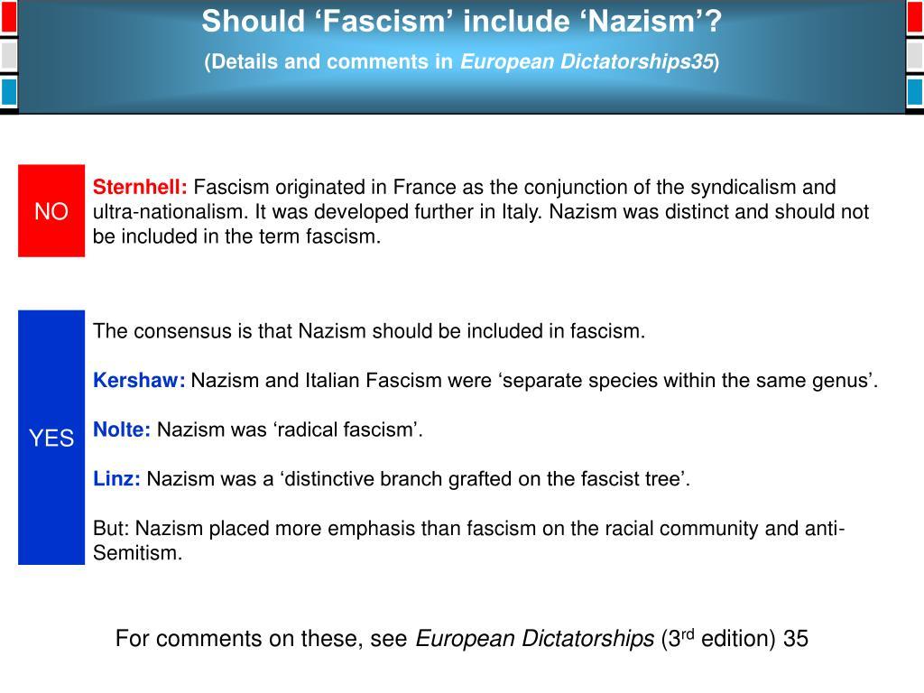 Should 'Fascism' include 'Nazism'?