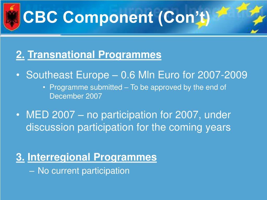 CBC Component (Con't)