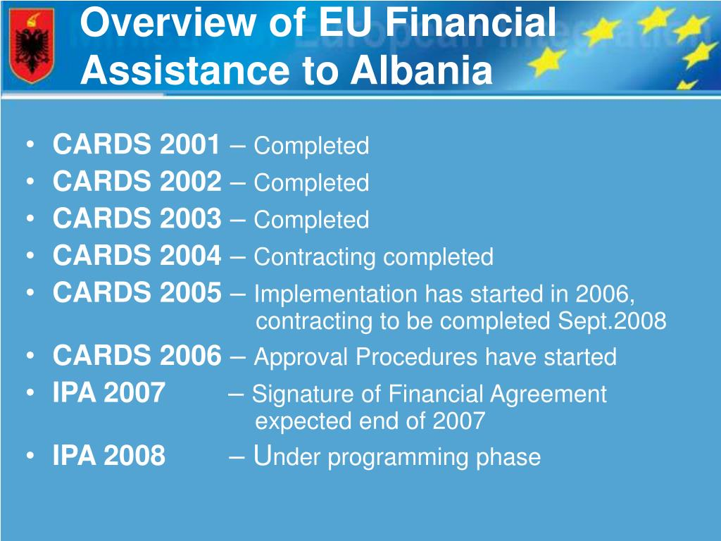 Overview of EU Financial Assistance to Albania