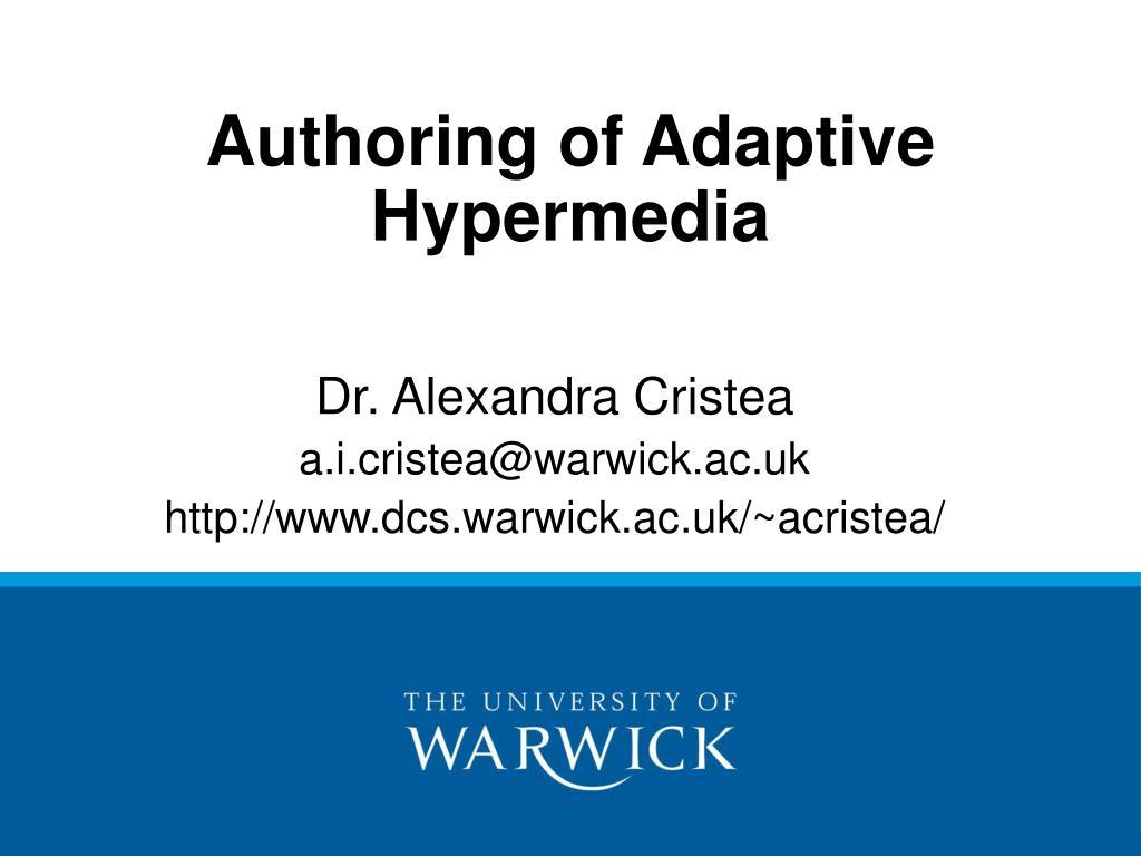 authoring of adaptive hypermedia