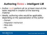 authoring roles intelligent lm