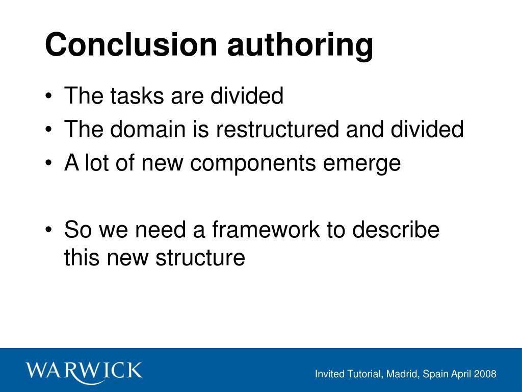 Conclusion authoring