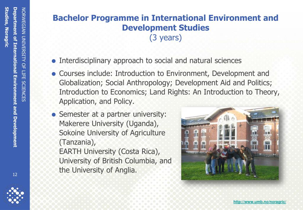 Bachelor Programme in International Environment and Development Studies