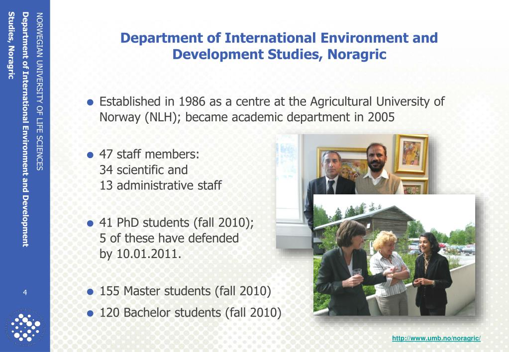 Department of International Environment and Development Studies, Noragric