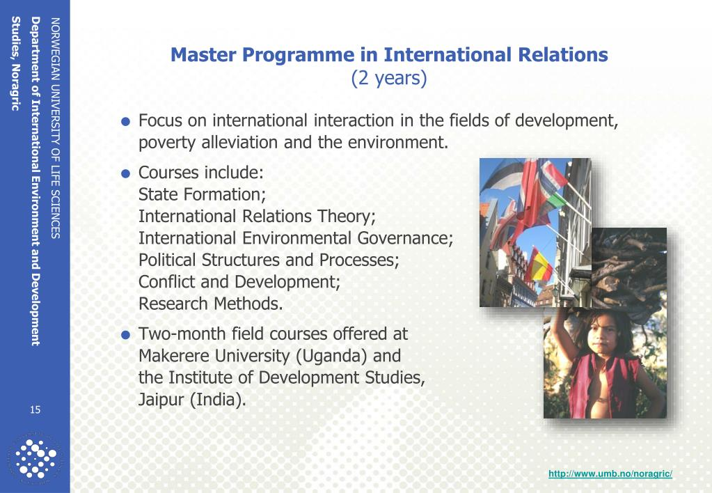 Master Programme in International Relations