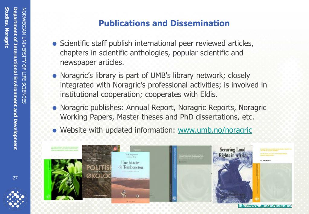 Publications and Dissemination