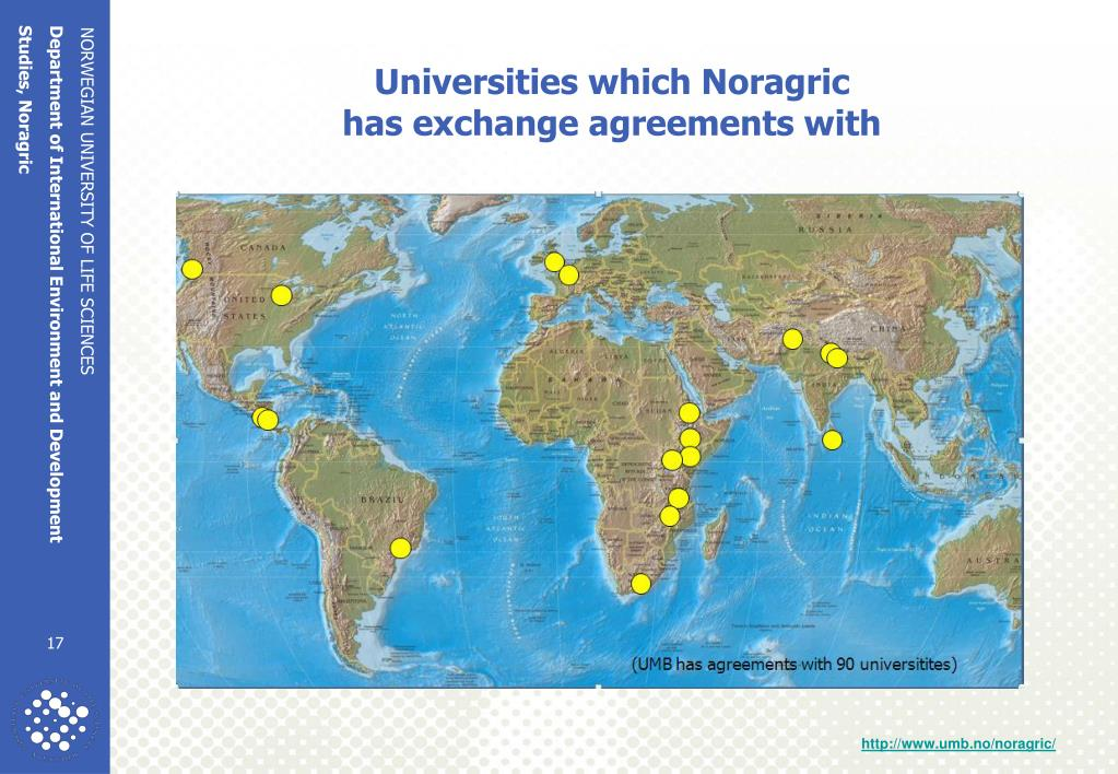 Universities which Noragric