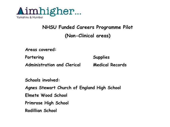 NHSU Funded Careers Programme Pilot