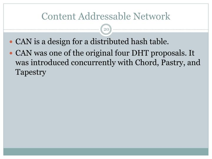 Content Addressable Network