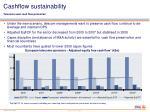cashflow sustainability