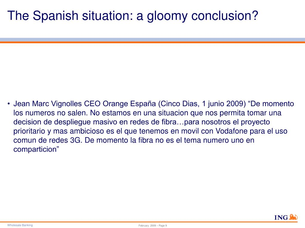 The Spanish situation: a gloomy conclusion?
