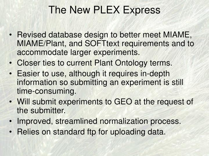 The New PLEX Express