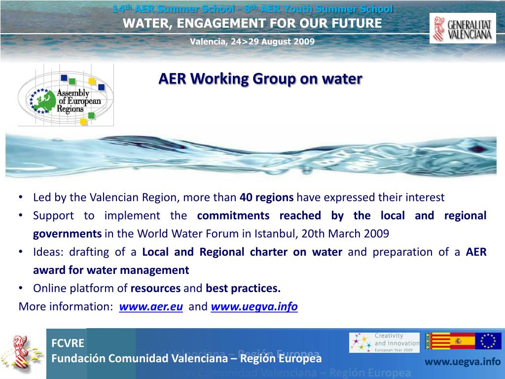 AER Working Group on water